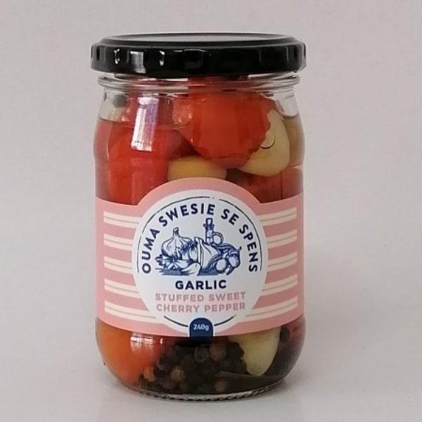 Garlic Stuffed Sweet Cherry Peppers